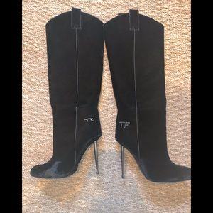 Tom Ford velvet boots
